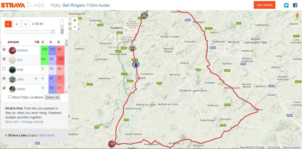 Bell Ring Audax Fly By Strava