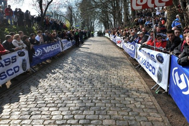 The top of the Kemmelberg Gent Wevelgem Cyclo