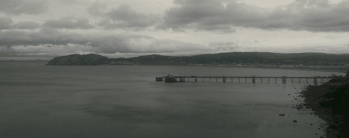 View of Llandudno Pier from the Great Orme Road