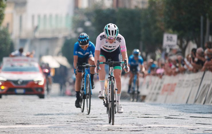 Mikayla Harvey still in the white jersey and fifth overall after Giro Rosa Stage 7