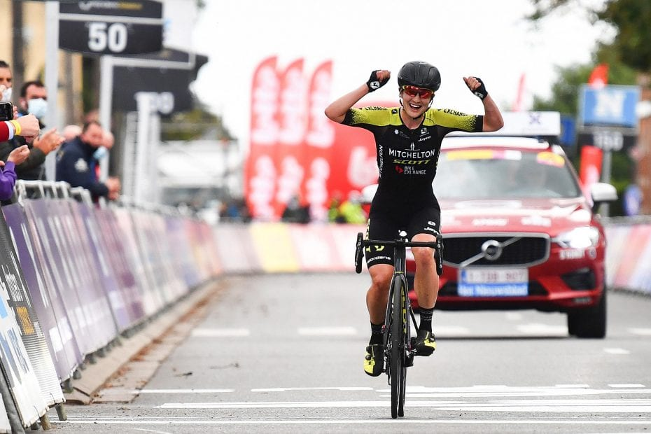 Brown powers to her first European victory at Brabantse Pijl