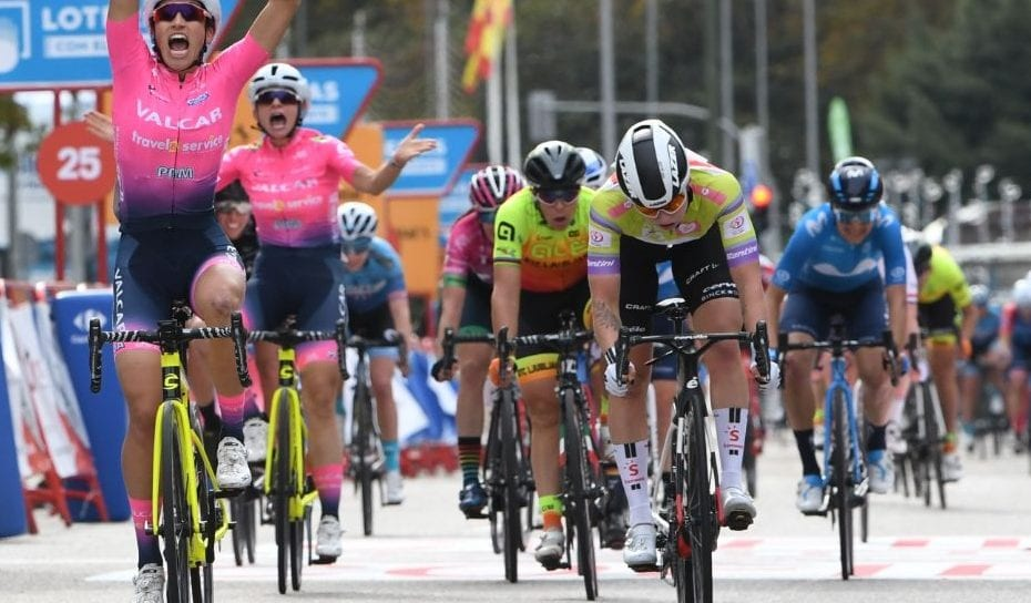 Lorena Wiebes sprints to strong 2nd place in Madrid, finishing 3rd on GC